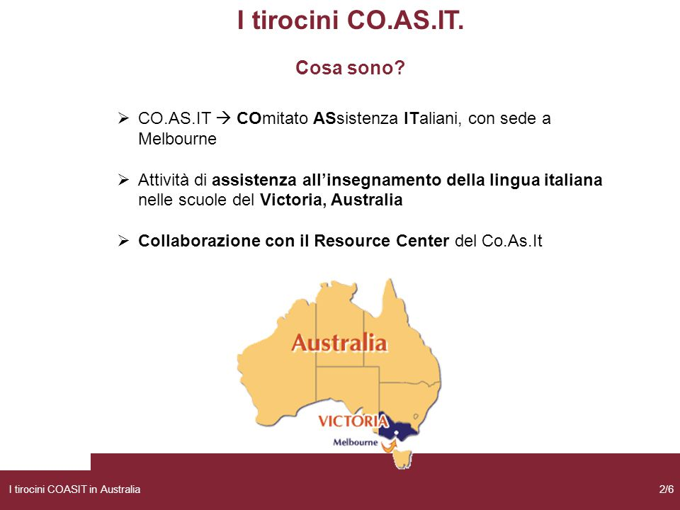 I tirocini CO.AS.IT. Cosa sono
