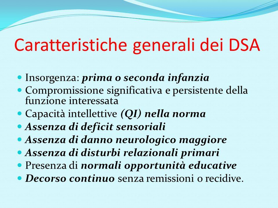Caratteristiche generali dei DSA