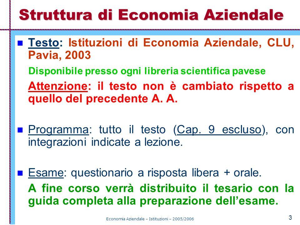 Struttura di Economia Aziendale