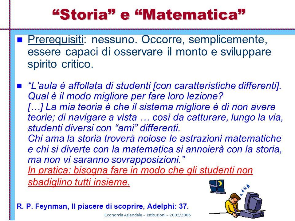 Storia e Matematica