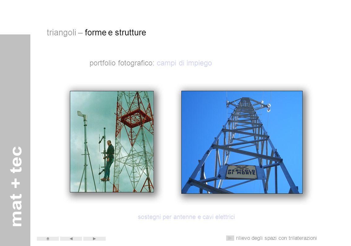 sostegni per antenne e cavi elettrici