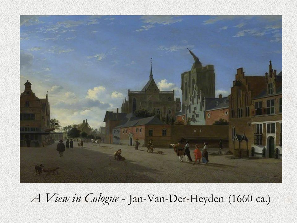 A View in Cologne - Jan-Van-Der-Heyden (1660 ca.)