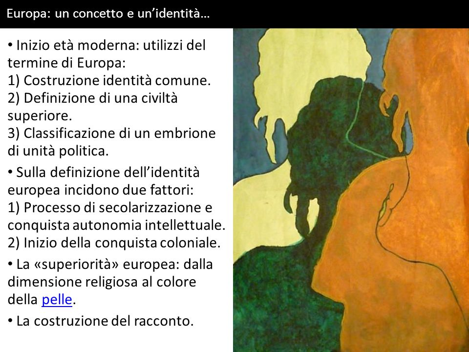 Inizio età moderna: utilizzi del termine di Europa:
