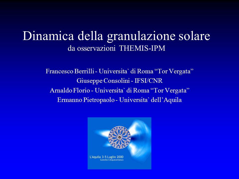 Dinamica della granulazione solare da osservazioni THEMIS-IPM