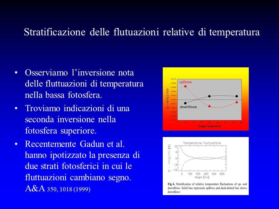 Stratificazione delle flutuazioni relative di temperatura