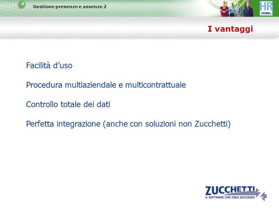 Procedura multiaziendale e multicontrattuale Controllo totale dei dati