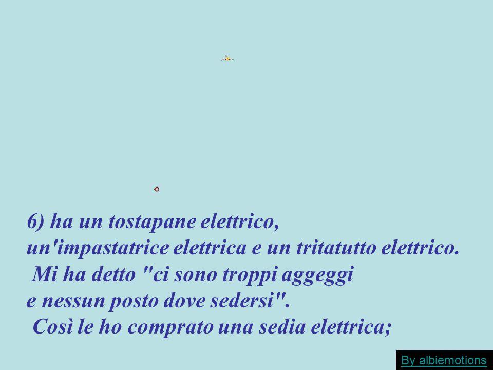 6) ha un tostapane elettrico,