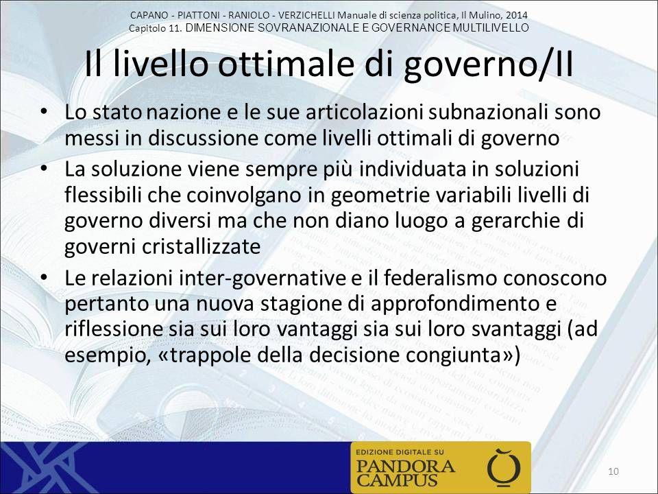 Il livello ottimale di governo/II