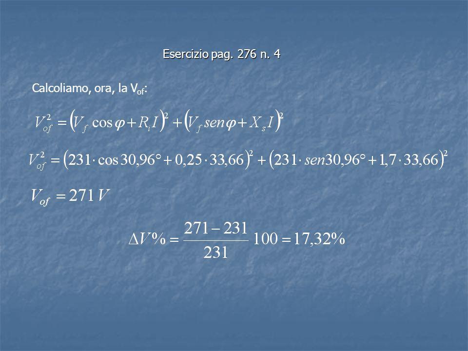 Esercizio pag. 276 n. 4 Calcoliamo, ora, la Vof: