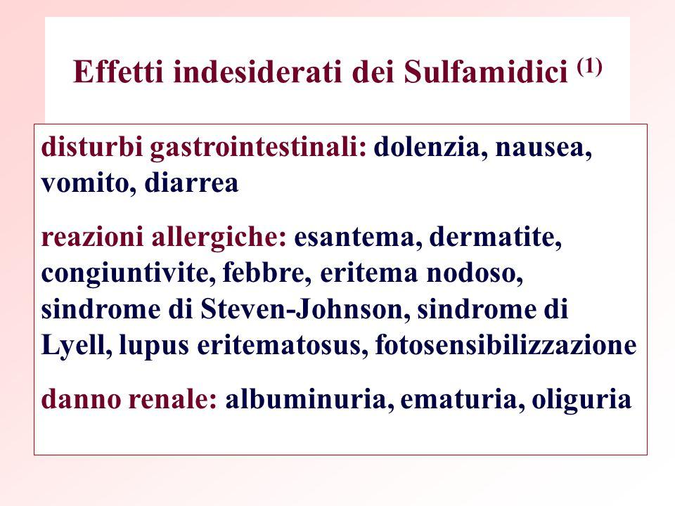 Effetti indesiderati dei Sulfamidici (1)