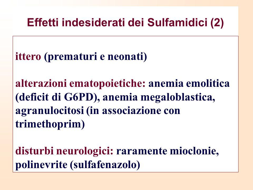 Effetti indesiderati dei Sulfamidici (2)