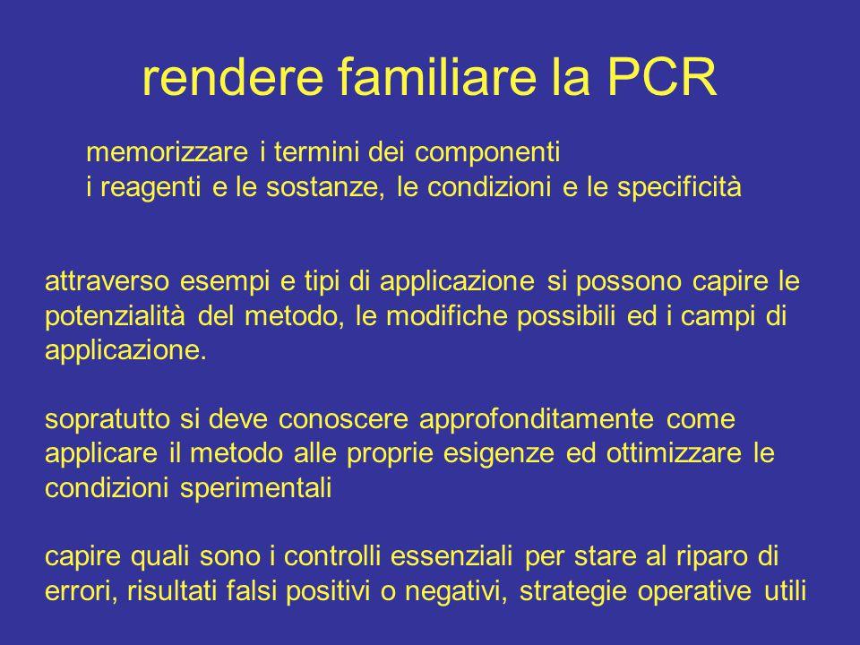 rendere familiare la PCR