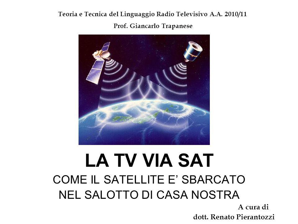 LA TV VIA SAT COME IL SATELLITE E' SBARCATO NEL SALOTTO DI CASA NOSTRA