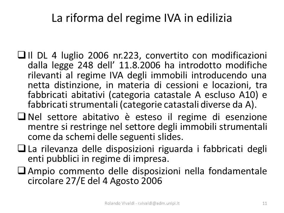 La riforma del regime IVA in edilizia