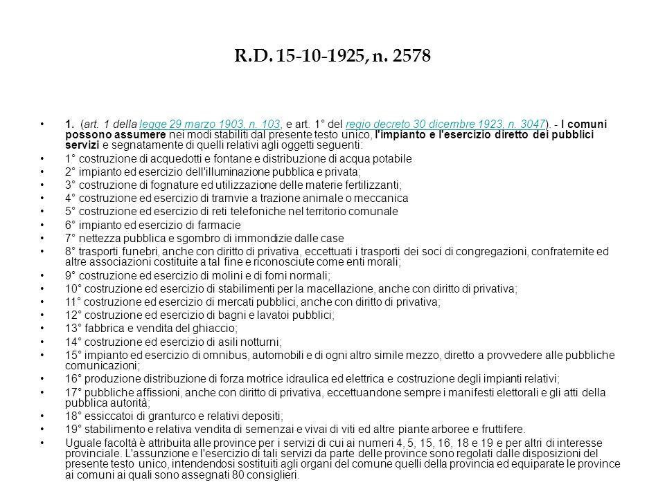 R.D. 15-10-1925, n. 2578