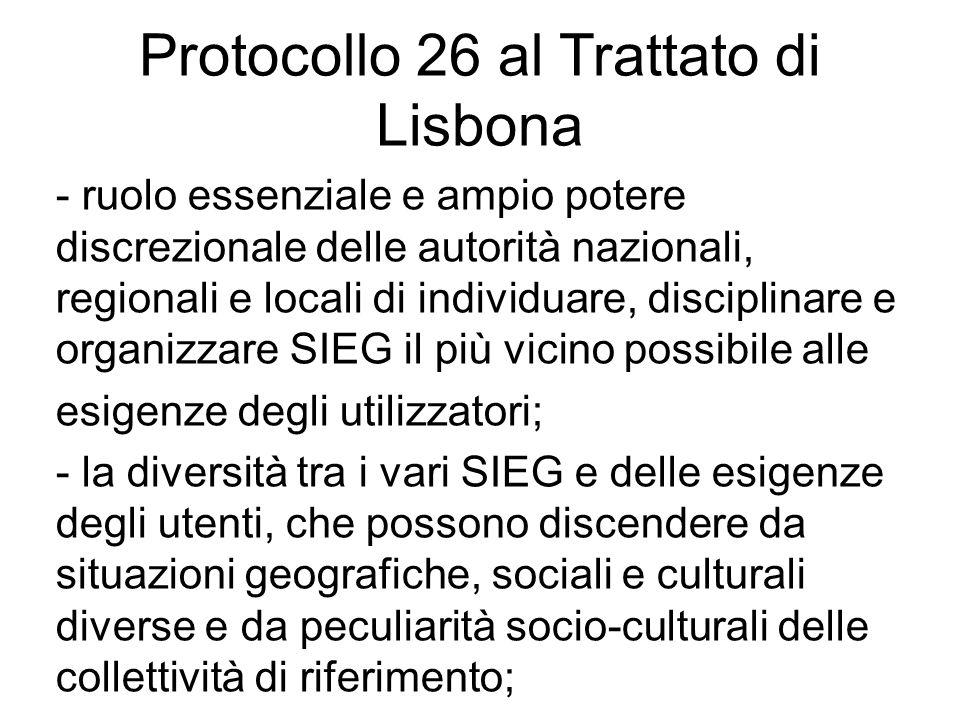 Protocollo 26 al Trattato di Lisbona