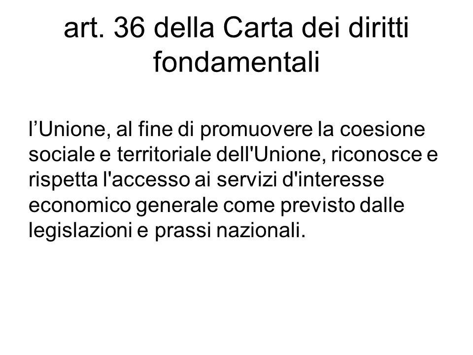art. 36 della Carta dei diritti fondamentali
