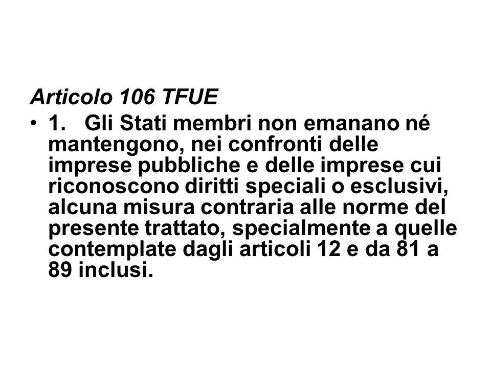 Articolo 106 TFUE