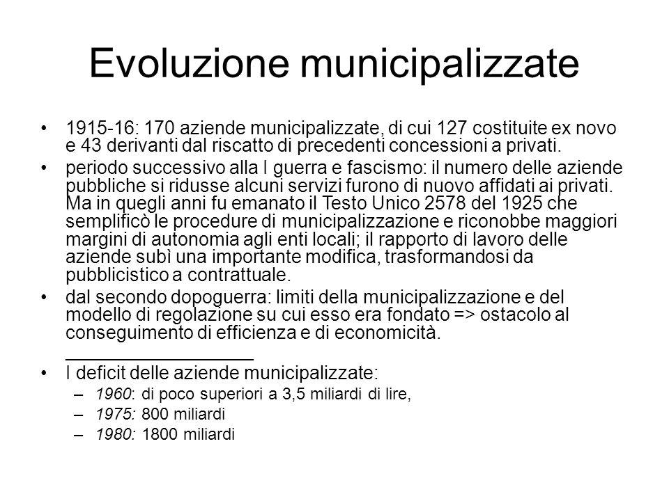 Evoluzione municipalizzate