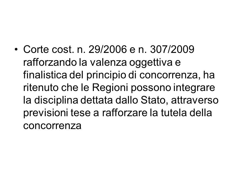 Corte cost. n. 29/2006 e n.