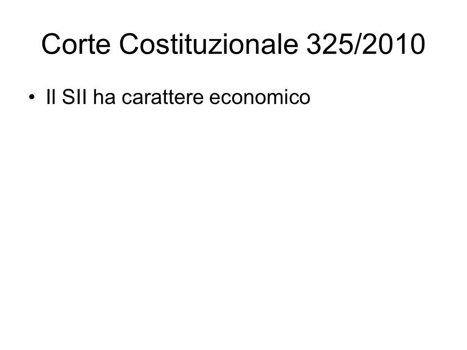 Corte Costituzionale 325/2010
