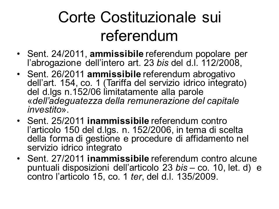 Corte Costituzionale sui referendum