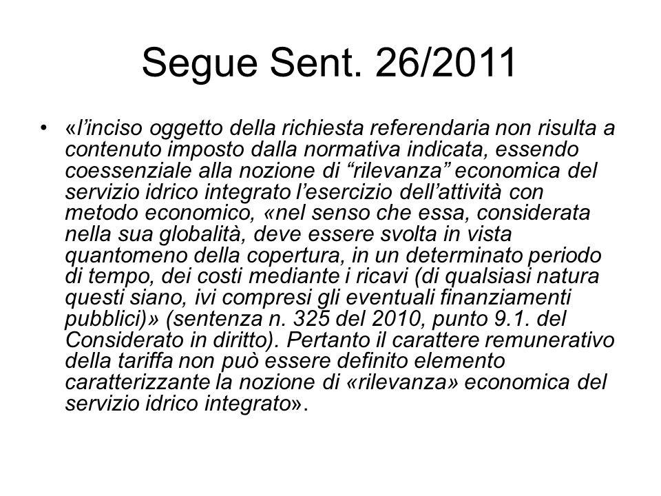 Segue Sent. 26/2011
