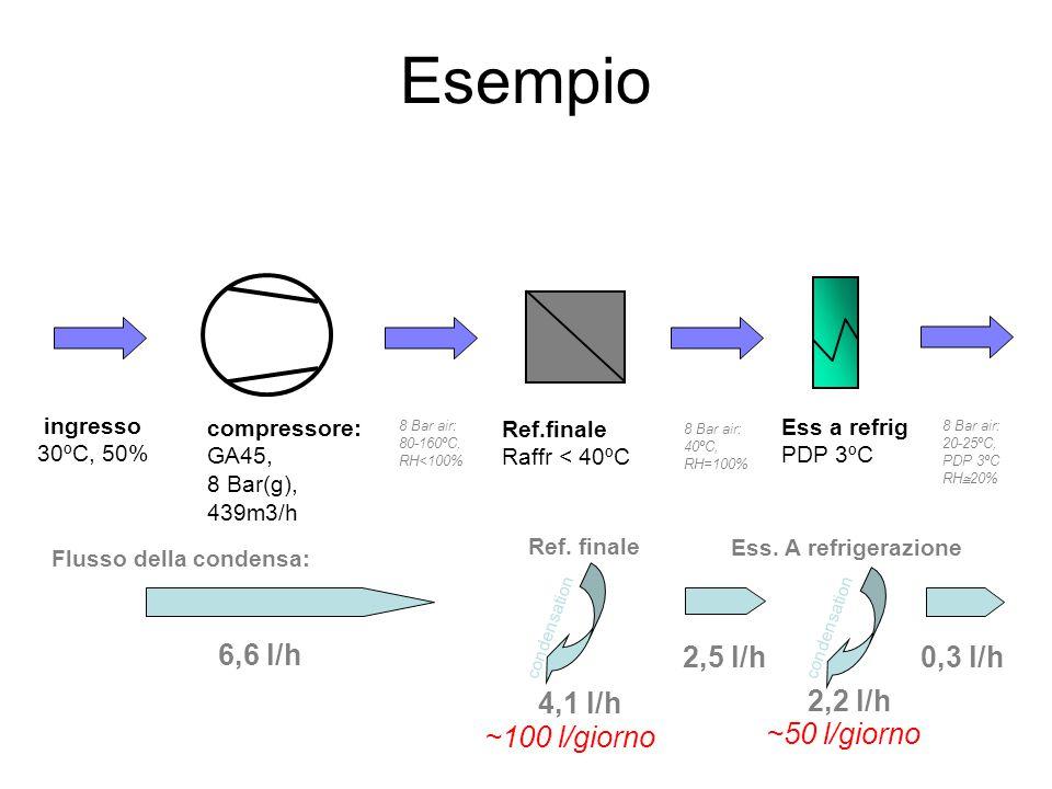Esempio 4,1 l/h 2,2 l/h 6,6 l/h 2,5 l/h 0,3 l/h ~100 l/giorno