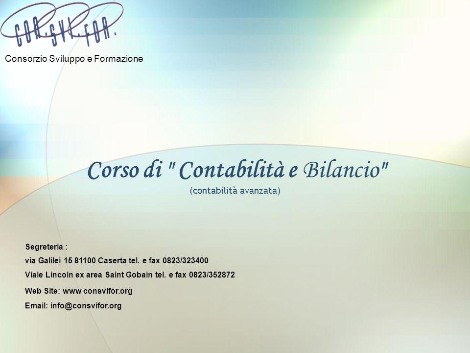 Corso di Contabilità e Bilancio (contabilità avanzata)