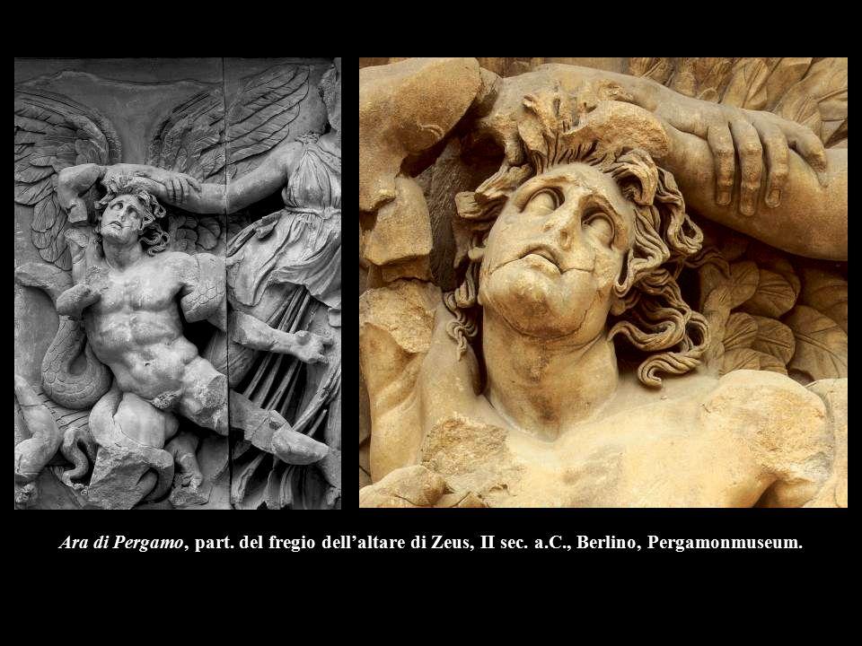 Ara di Pergamo, part. del fregio dell'altare di Zeus, II sec. a. C