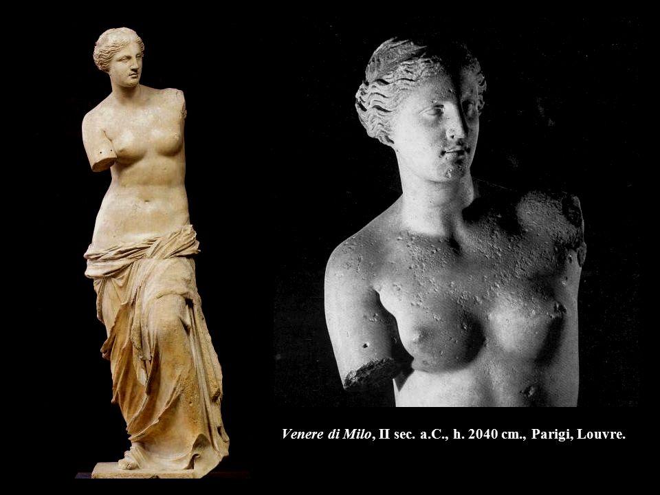 Venere di Milo, II sec. a.C., h. 2040 cm., Parigi, Louvre.
