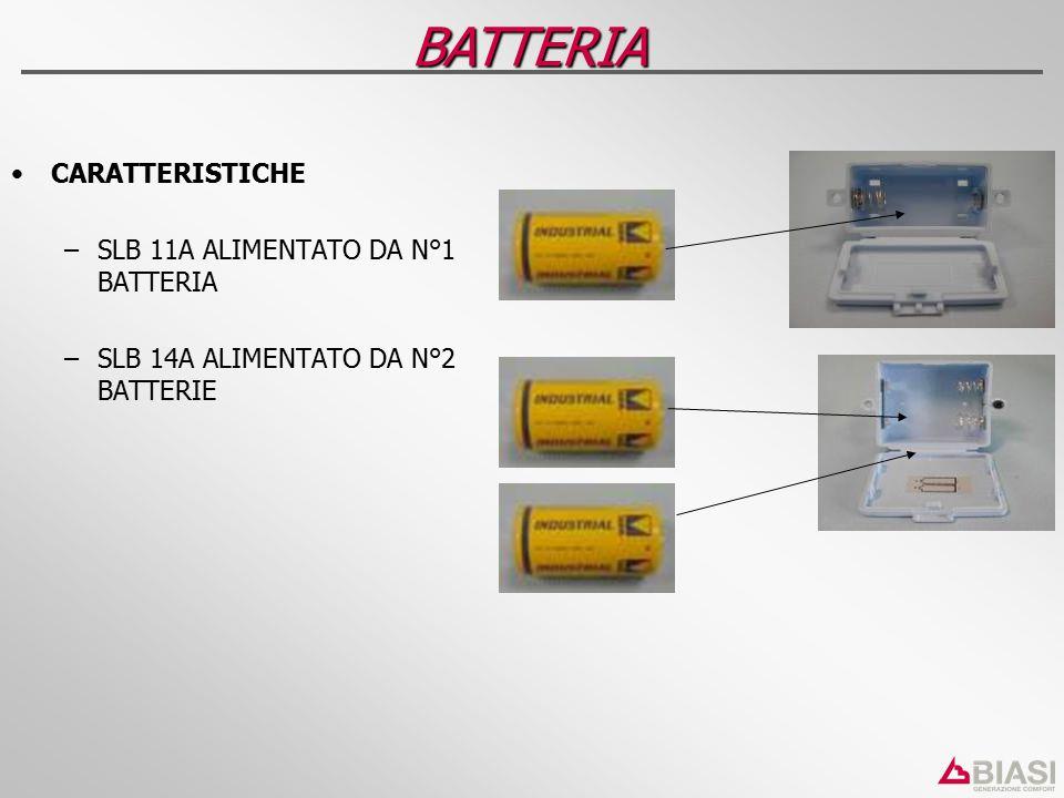 BATTERIA CARATTERISTICHE SLB 11A ALIMENTATO DA N°1 BATTERIA