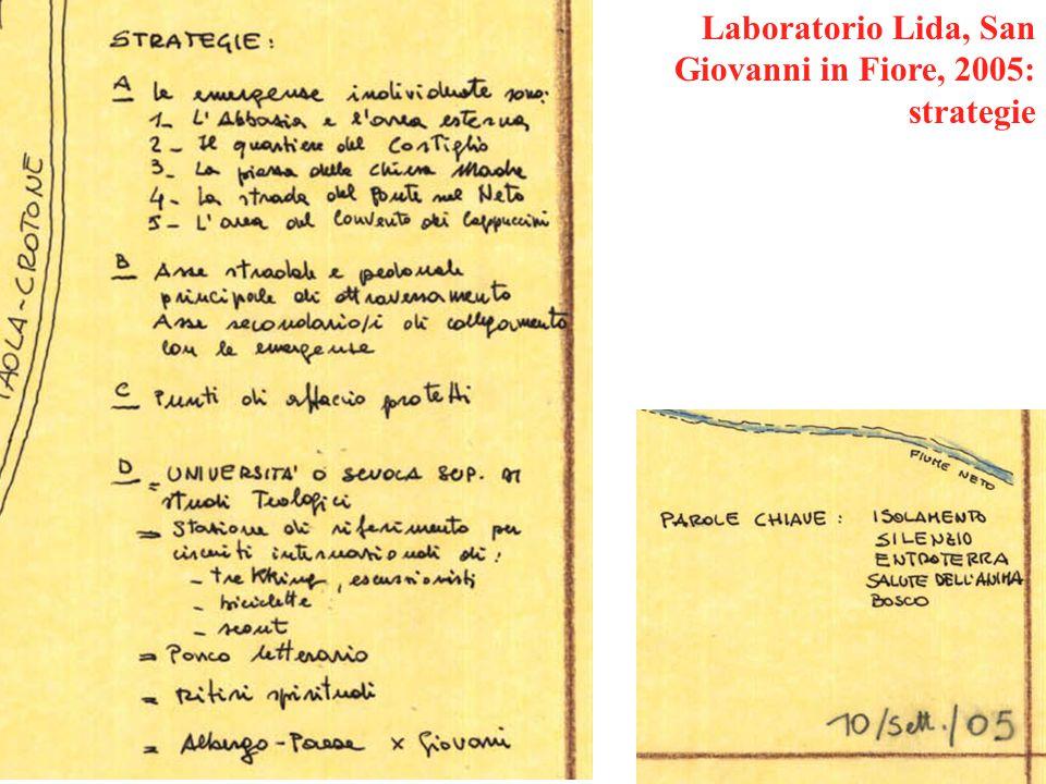 Laboratorio Lida, San Giovanni in Fiore, 2005: