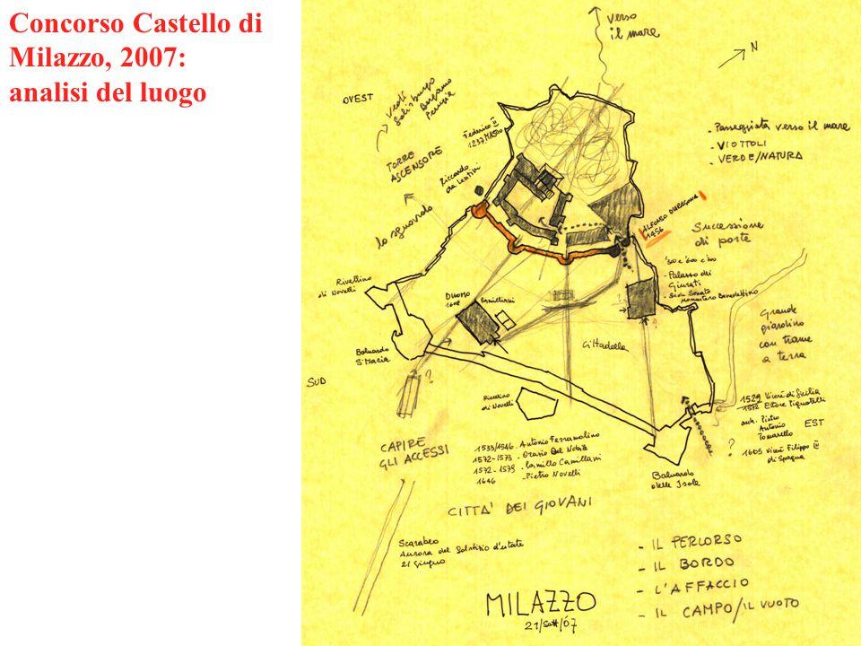 Concorso Castello di Milazzo, 2007: analisi del luogo