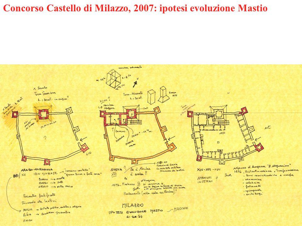 Concorso Castello di Milazzo, 2007: ipotesi evoluzione Mastio