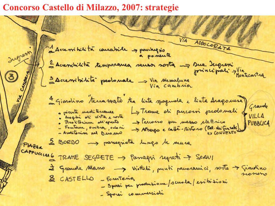 Concorso Castello di Milazzo, 2007: strategie