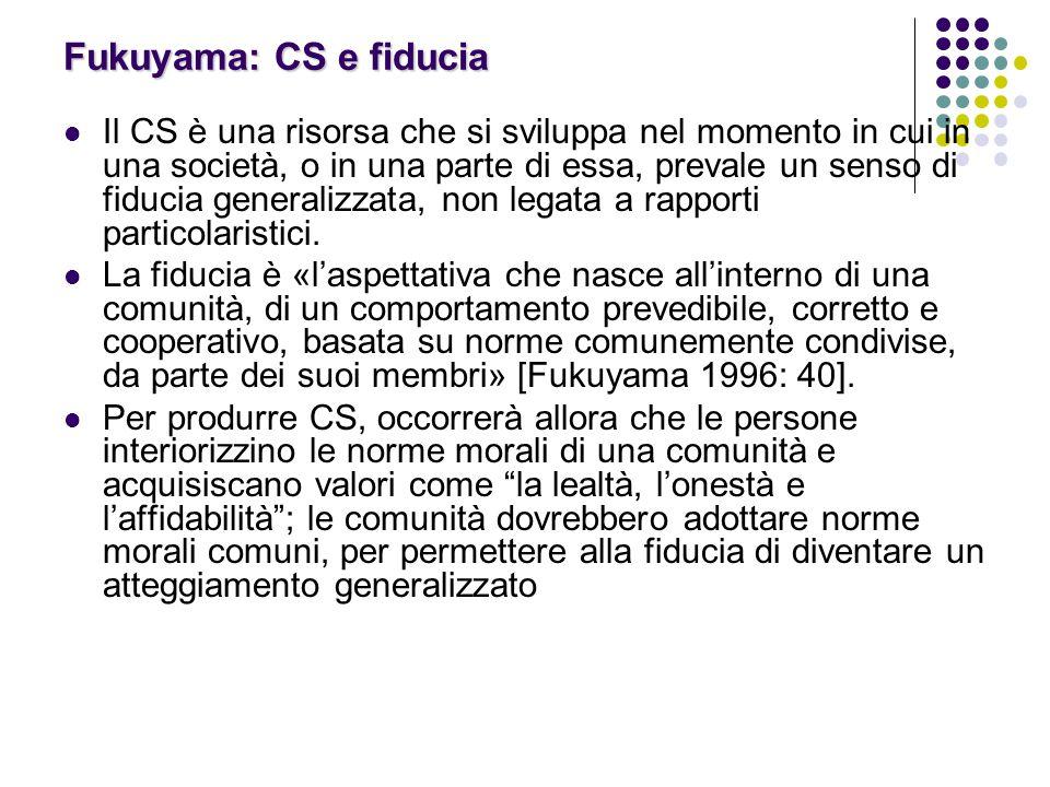 Fukuyama: CS e fiducia