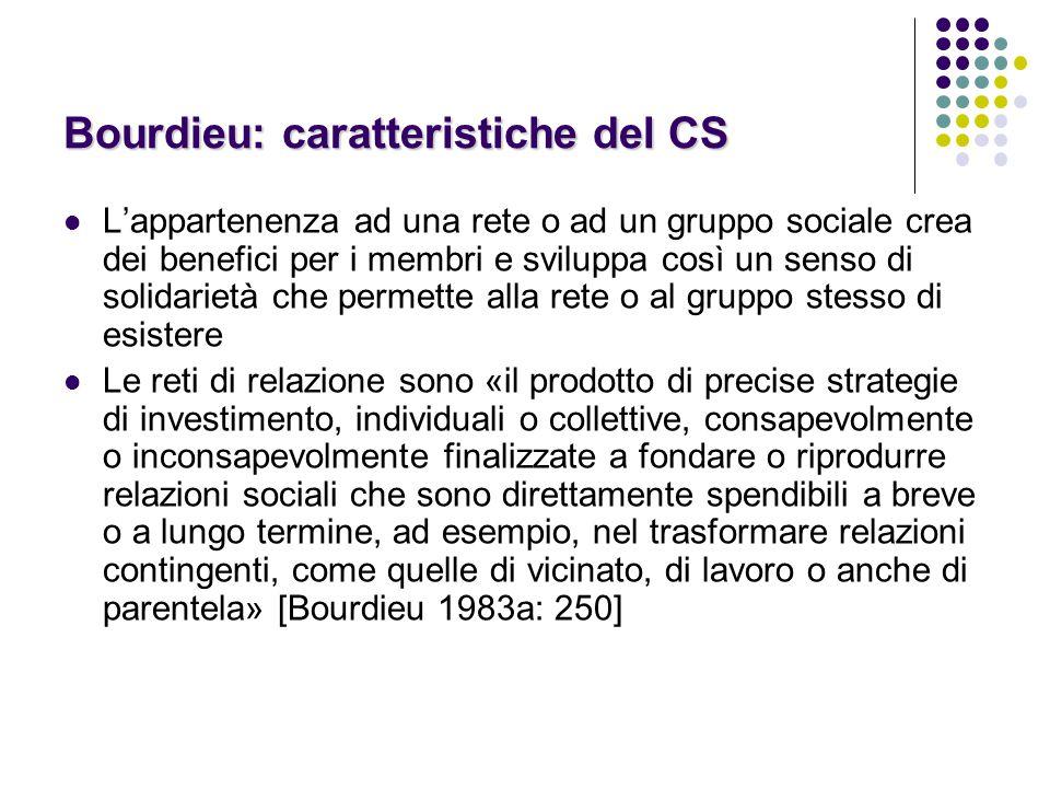 Bourdieu: caratteristiche del CS