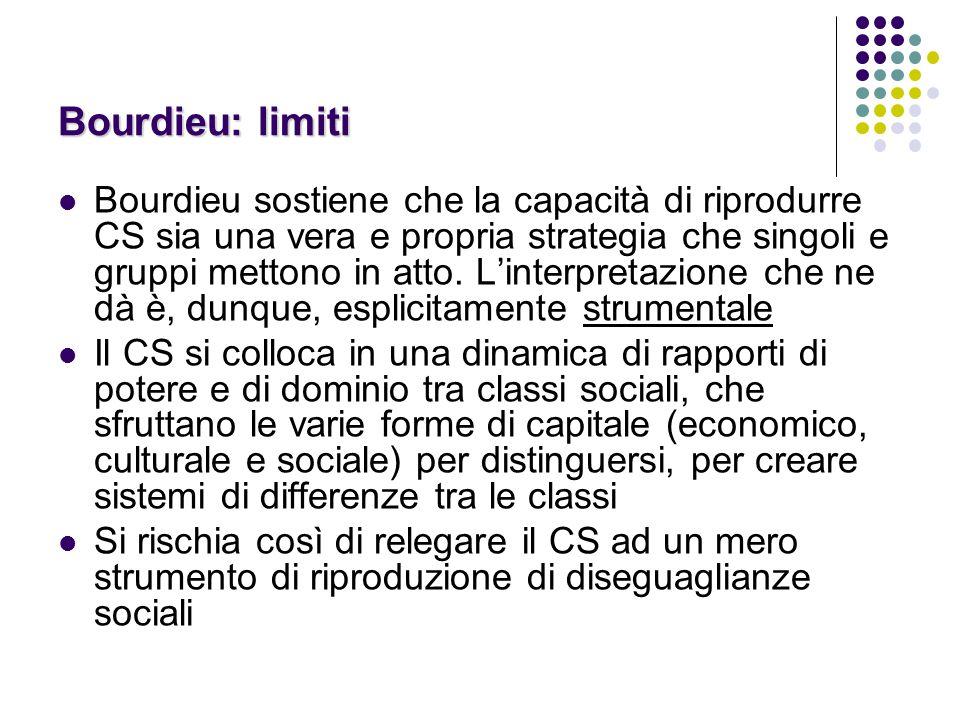 Bourdieu: limiti
