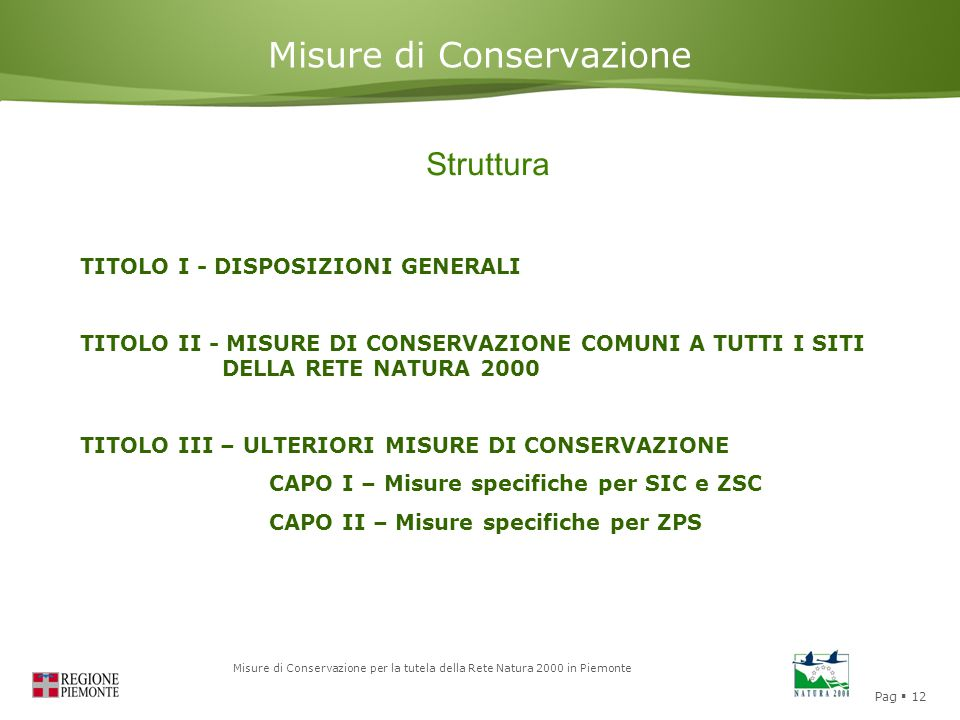 Misure di Conservazione