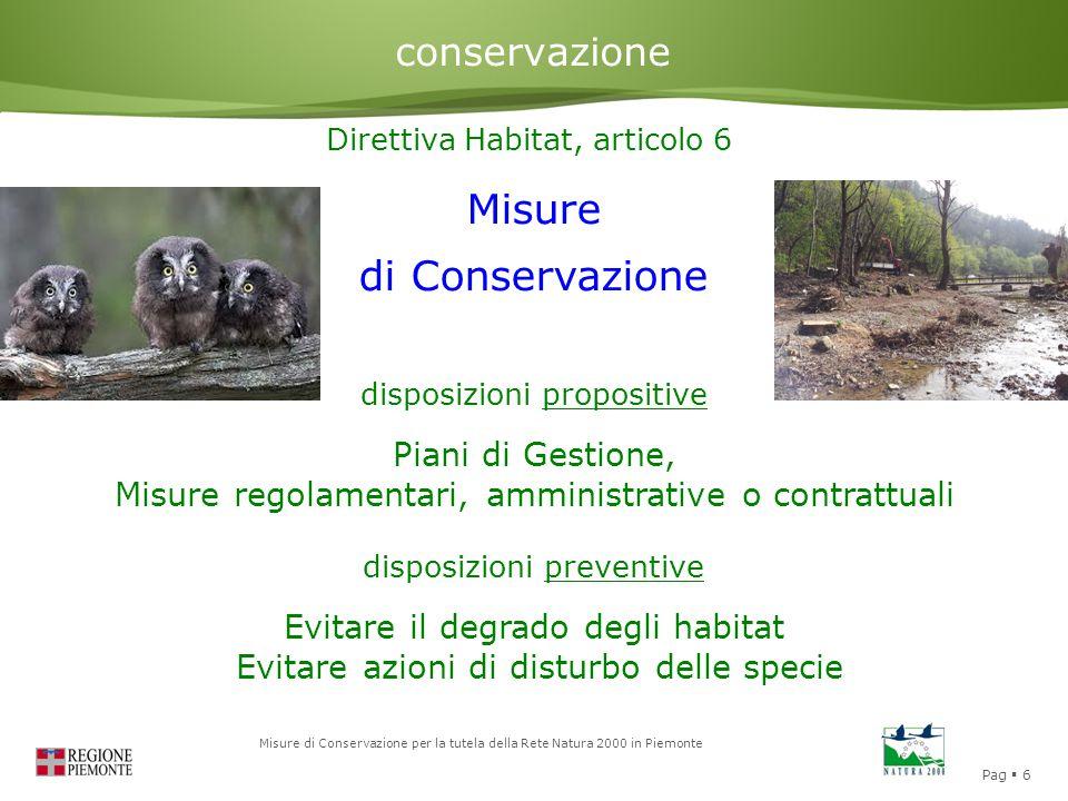 Misure di Conservazione conservazione Piani di Gestione,