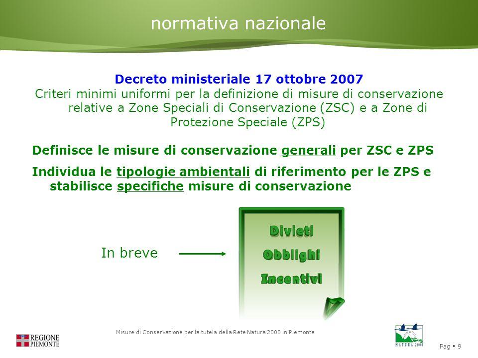Decreto ministeriale 17 ottobre 2007