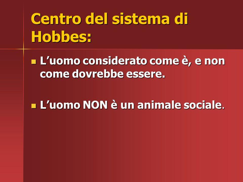 Centro del sistema di Hobbes: