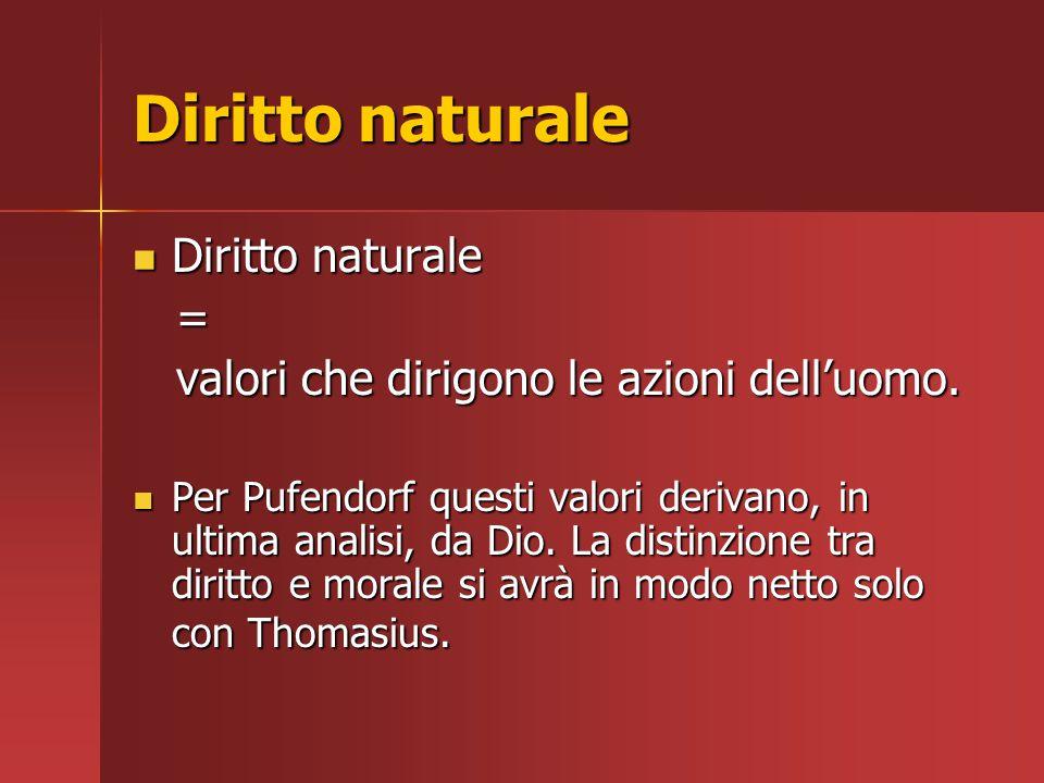 Diritto naturale Diritto naturale =