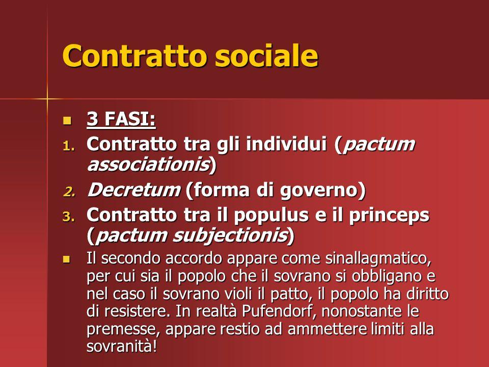 Contratto sociale 3 FASI: