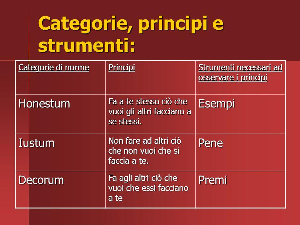 Categorie, principi e strumenti: