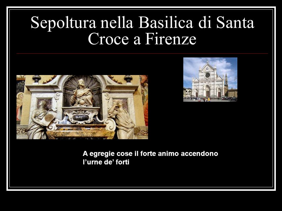 Sepoltura nella Basilica di Santa Croce a Firenze