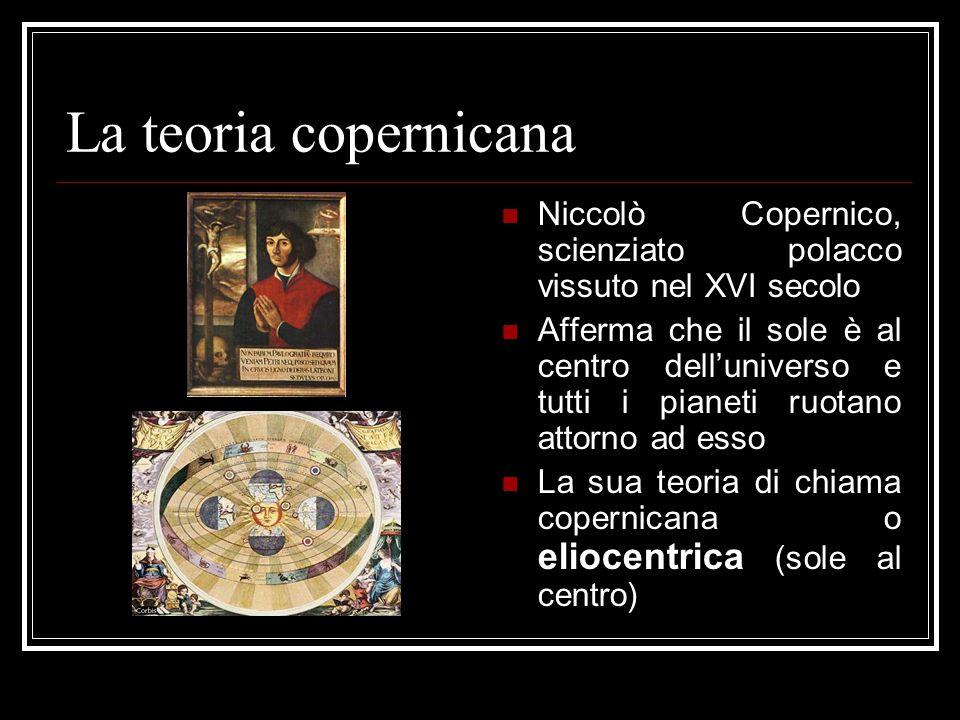 La teoria copernicana Niccolò Copernico, scienziato polacco vissuto nel XVI secolo.
