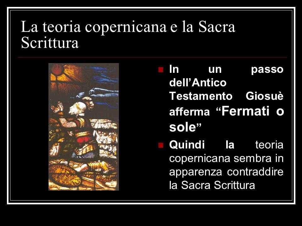 La teoria copernicana e la Sacra Scrittura
