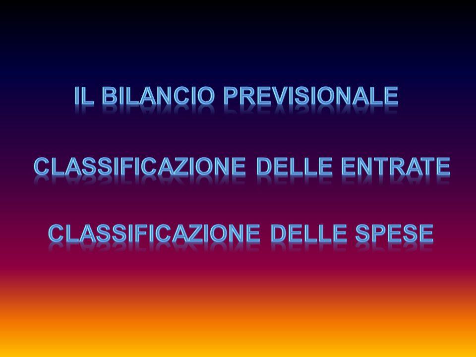 IL BILANCIO PREVISIONALE